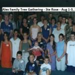 Alex Family Gathering Ste. Rose Aug 1-3, 2015